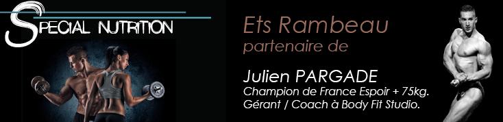 Sèche musculaire : Ets Rambeau partenaire de Julien Pargade